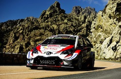Toyota Yaris WRC First and Second on the Calvi Power Stage