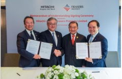 Hitachi and Frasers Property Sign S$100 Million MOU to Drive Digital Transformation in the Real Estate Industry in Asia Pacific